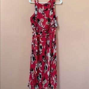 Lane Bryant Hot Pink and Black Dress